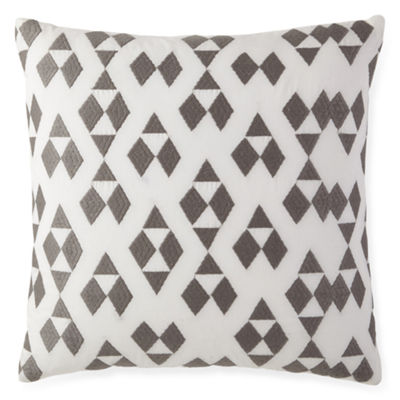 Bellina White Square Decorative Pillow