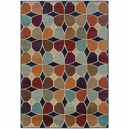 Covington Home Amanda Petals Rectangular Indoor Rugs, One Size , Gray Product Image
