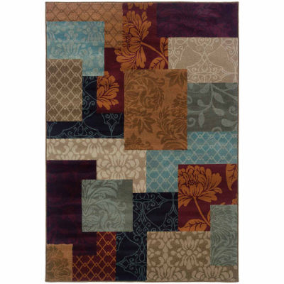 Covington Home Amanda Patchwork Rectangular Rugs