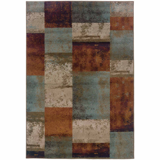 Covington Home Amanda Blocks Rectangular Rugs