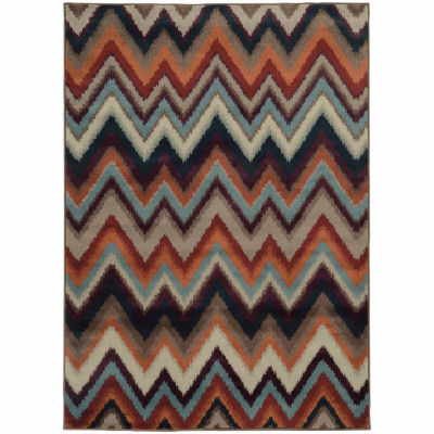 Covington Home Amanda Zig Zag Rectangular Rugs