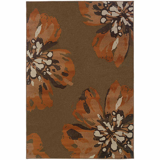 Covington Home Amanda Flora Rectangular Indoor Rugs