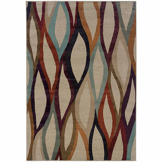 Covington Home Amanda Waves Rectangular Indoor Rugs