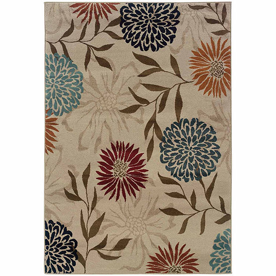 Covington Home Amanda Bloom Rectangular Indoor Rugs