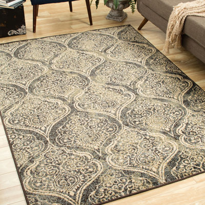 Covington Home Sterling Mehndi Rectangular Indoor Rugs