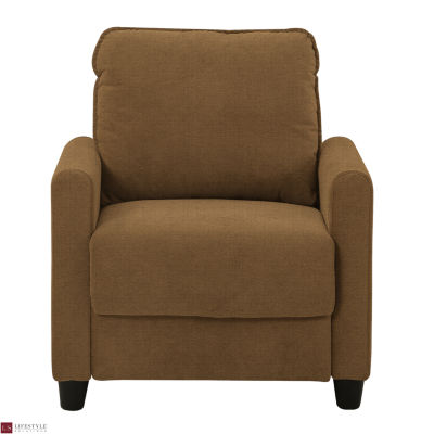 Sheffield Collection Curved Slope-Arm Chair