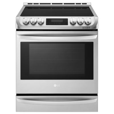 LG 6.3 cu. ft. Wi-Fi Enabled Electric Slide-In Range with Warming Drawer and Induction Cooktop