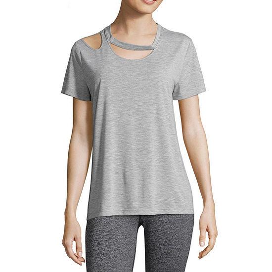Xersion Womens Scoop Neck Short Sleeve T-Shirt