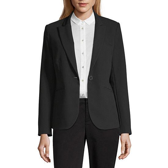 Liz Claiborne Long Sleeve One Button Jacket - Tall