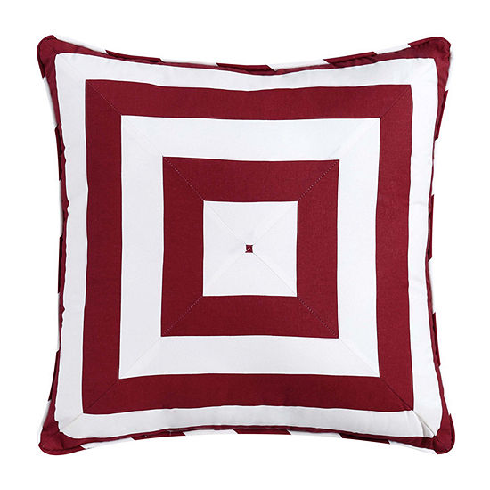 Oceanfront Resort Nautical Charm Square Throw Pillow
