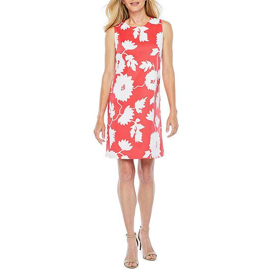 Ronni Nicole Sleeveless Floral Puff Print Shift Dress