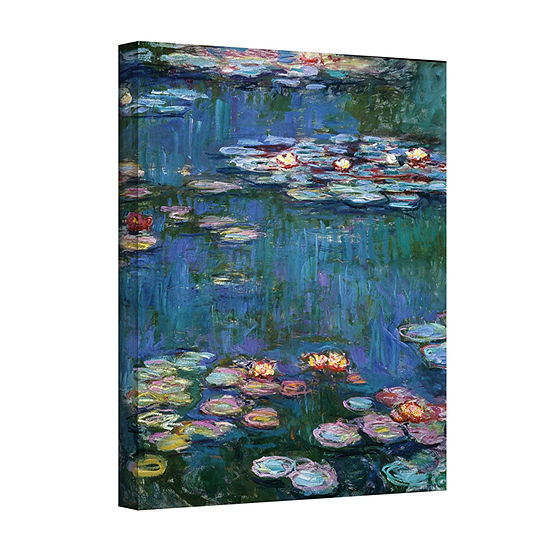Brushstone Water Lillies By Claude Monet Gallery Wrapped Canvas Wall Art