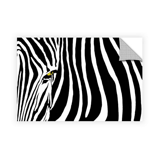 Brushstone Zebra Stripes Removable Wall Decal