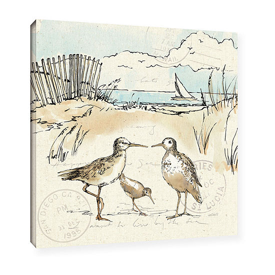Brushstone Coastal Breeze Xi Gallery Wrapped Canvas Wall Art
