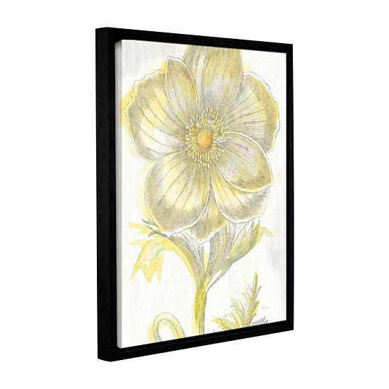 Brushstone Belle Fleur Yellow II Crop Gallery Wrapped Floater-Framed Canvas Wall Art