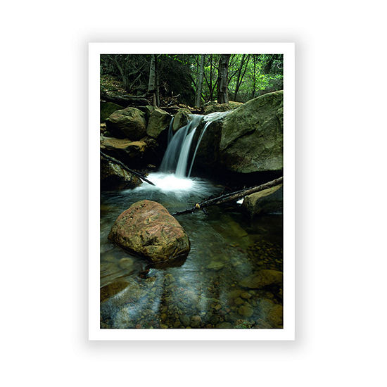 Brushstone Waterfall In The Woods Canvas Wall Art