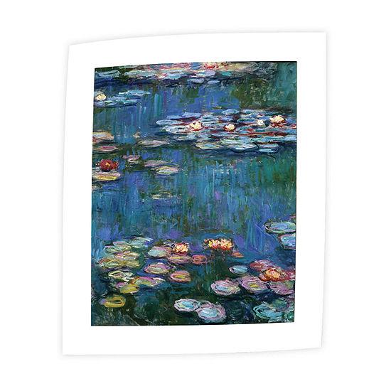 Brushstone Water Lillies By Claude Monet Canvas Wall Art