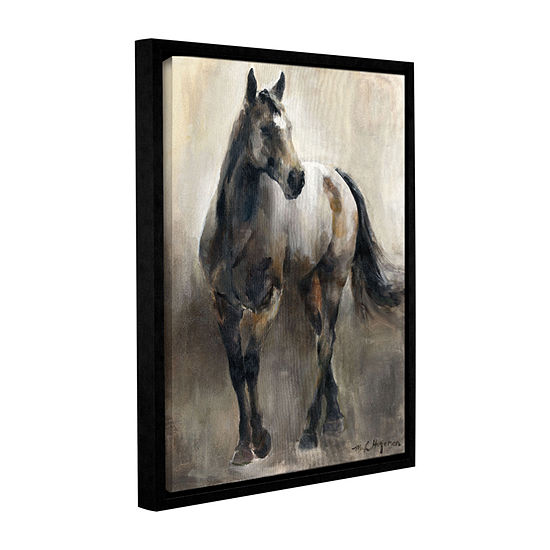 Brushstone Copper and Nickel Gallery Wrapped Floater-Framed Canvas Wall Art
