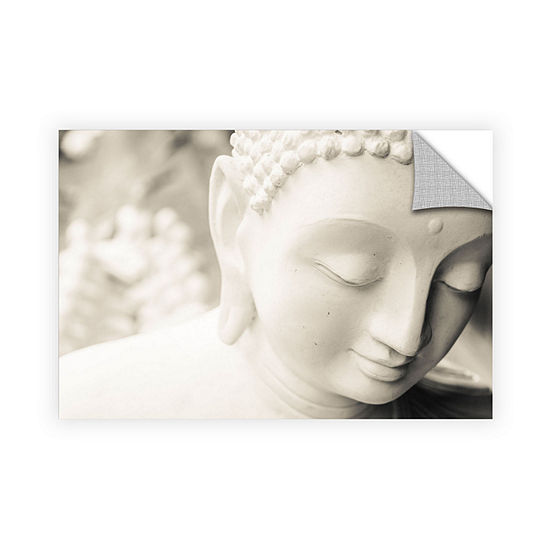 Brushstone White Buddha Removable Wall Decal