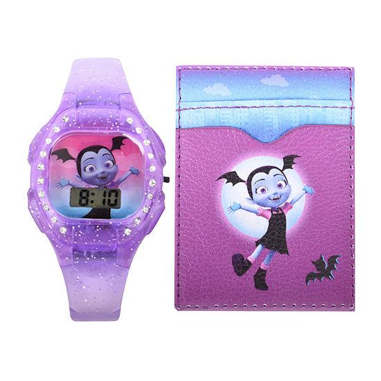 Disney Vampirina Girls Automatic Purple Strap Watch-Vmp40008jc