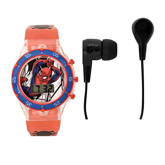 Marvel Unisex Adult Automatic Red Strap Watch-Spd40018jc