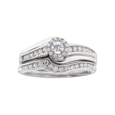 I Said Yes!™ 1/3 CT. T.W. Certified Diamond Contemporary Bridal Ring Set