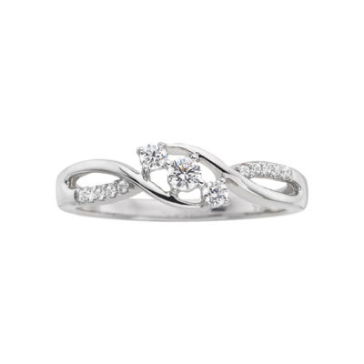 Love Lives Forever 1/5 CT. T.W. Diamond Three-Stone Promise Ring