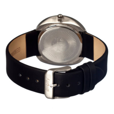 Simplify Unisex The 900 Black Leather-Band Watch With Date Sim0902