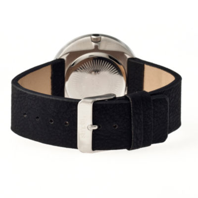 Simplify Unisex The 2200 Black Dial Black Leather-Band Watch SIM2202