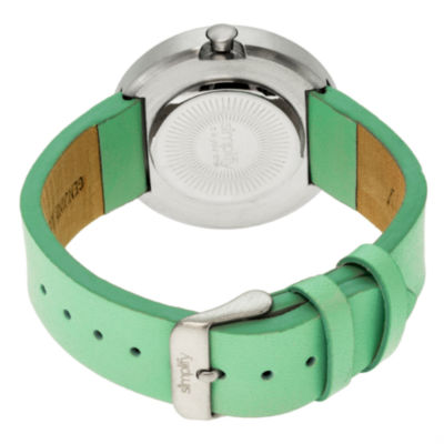 Simplify Unisex The 2700 Seafoam Leather-Band Watch SIM2705