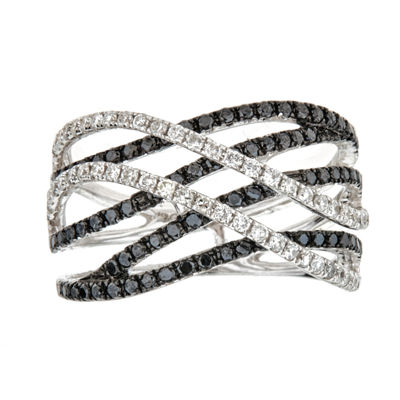 LIMITED QUANTITIES  1 CT. T.W. Color-Enhanced Black Diamond 14K White Gold Ring