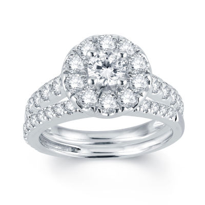 Modern Bride Signature 2 CT T W Diamond 14K White Gold