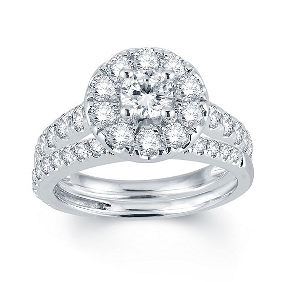 Modern Bride® Signature 2 CT. T.W. Diamond 14K White Gold Engagement Ring