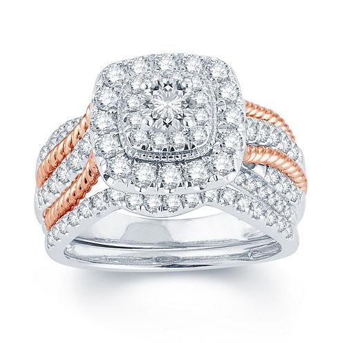1 1/2 CT. T.W. Diamond 14K Gold Engagement Ring