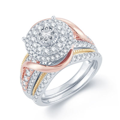 1 1/2 CT. T.W. Diamond 14K  Tri-Color Gold Engagement Ring