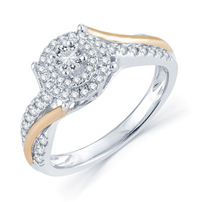 1/2 CT. T.W. Diamond 14K Two-Tone Gold Engagement Ring