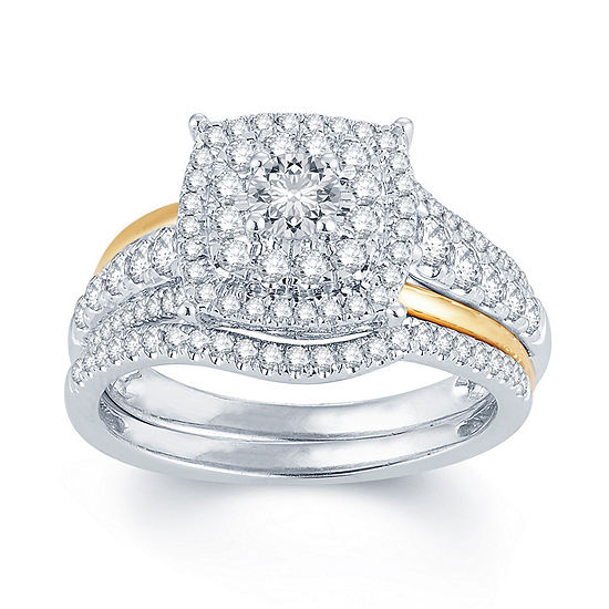 1 CT. T.W. Diamond 14K Two-ToneGold Engagement Ring