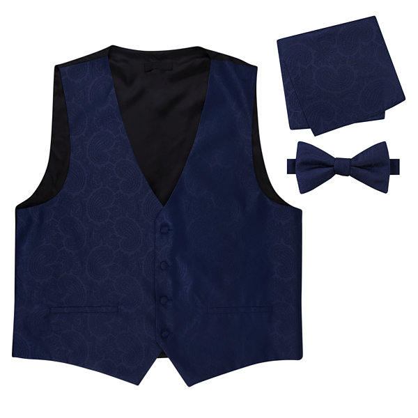 Paisley Vest, Bow Tie and Pocket Square Set