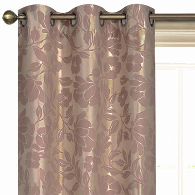 Laura Ashley® Duchess 2-Pack Grommet-Top Jacquard Curtain Panels