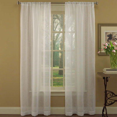 Laura Ashley® Diane 2-Pack Rod-Pocket Sheer Curtain Panels