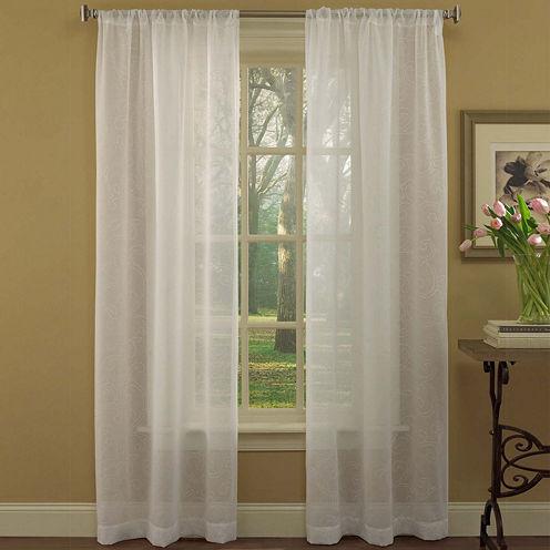 Laura Ashley® Diane 2-Pack Rod-Pocket Sheer Curtain Panels