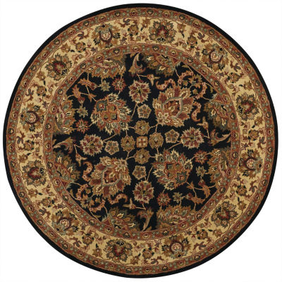 Feizy Rugs® Sickle Leaf Wool Round Rug