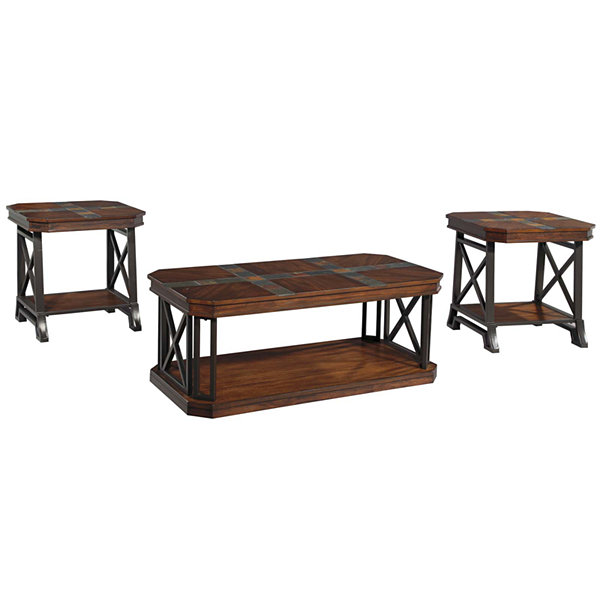 Good Signature Design By Ashley® Vinasville 3 Pc. Cocktail Table Set