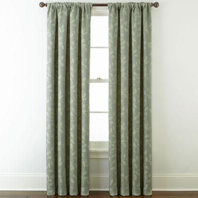 Liz Claiborne Quinn Leaf Room-Darkening Rod Pocket/ Back Tab Single Curtain Panel
