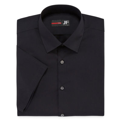 JF J. Ferrar® Stretch Short-Sleeve Broadcloth Slim Fit Dress Shirt
