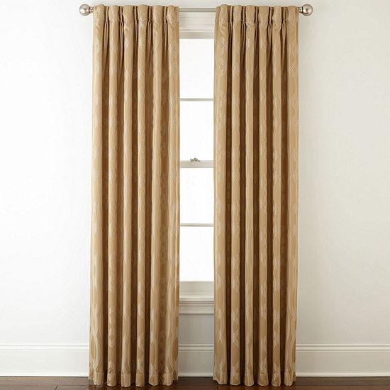 Liz Claiborne Energy Saving Light-Filtering Pinch-Pleat Single Curtain Panel