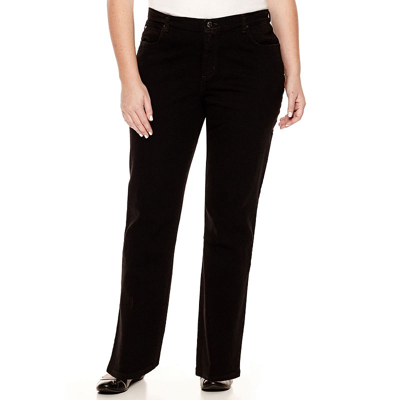 Lee Relaxed Fit Straight-Leg Jeans - Plus plus size,  plus size fashion plus size appare