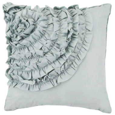 MaryJane's Cotton Clouds Square Decorative Pillow