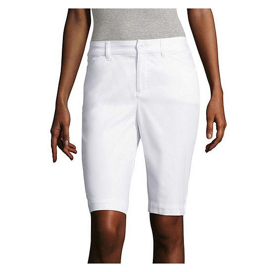 "St. John's Bay® Secretly Slender 11"" Bermuda Shorts"