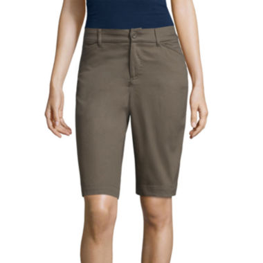 "St. John's Bay® Secretly Slender 11"" Bermuda Shorts"